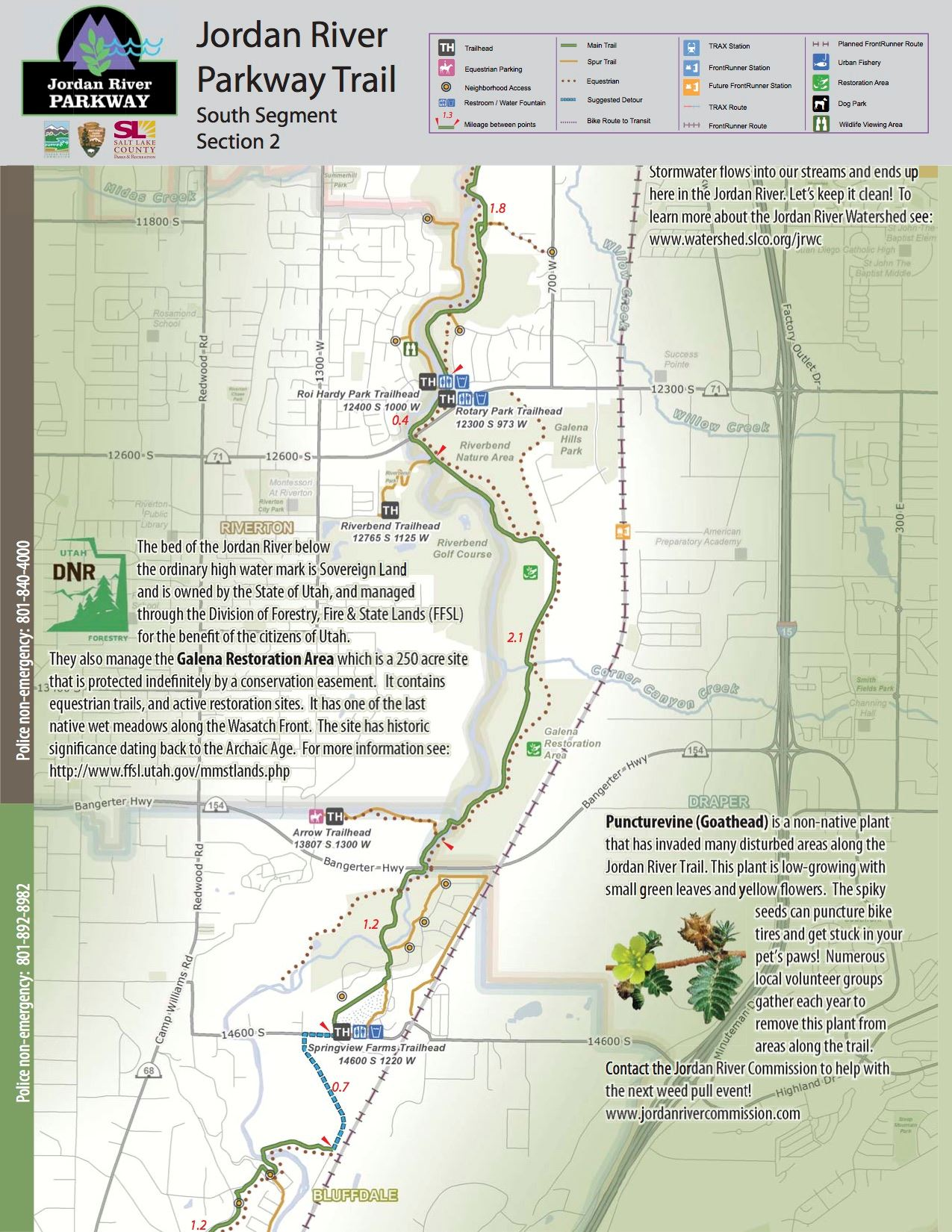 Jordan River Parkway Trail Bluffdale UT - World map jordan river