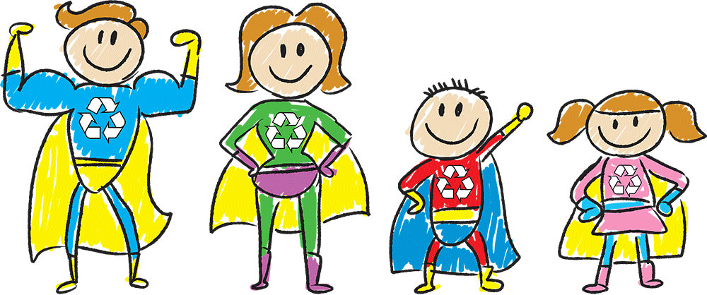 Recycle-Super-Hero-Family