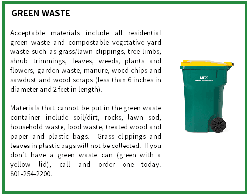 Garbage, Recycle & Green Waste | Bluffdale, UT