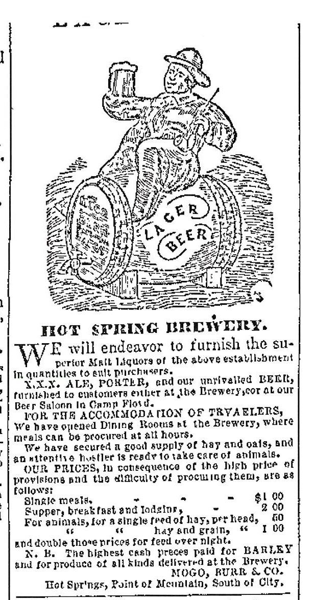 Brewery Advertisement (Valley Tan, 1859-06-01)